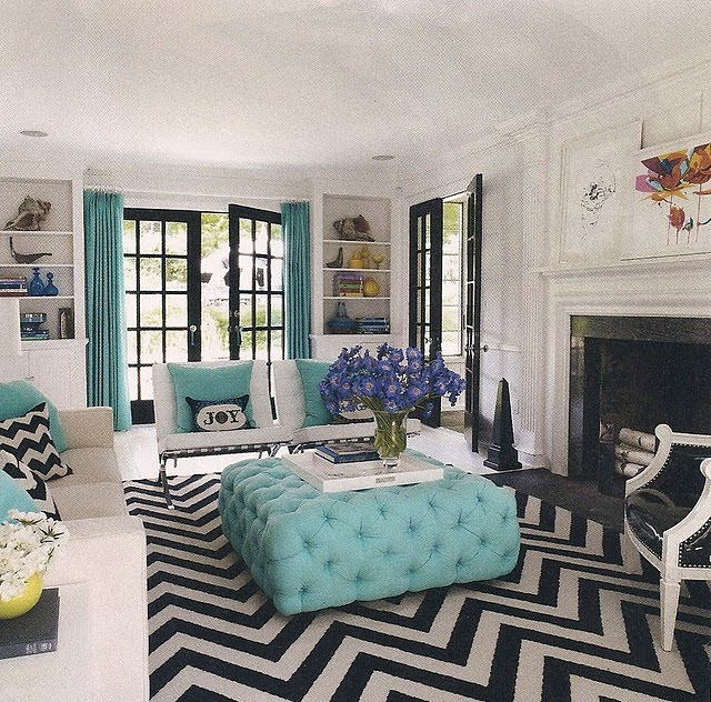 smart patterned chevron print rug