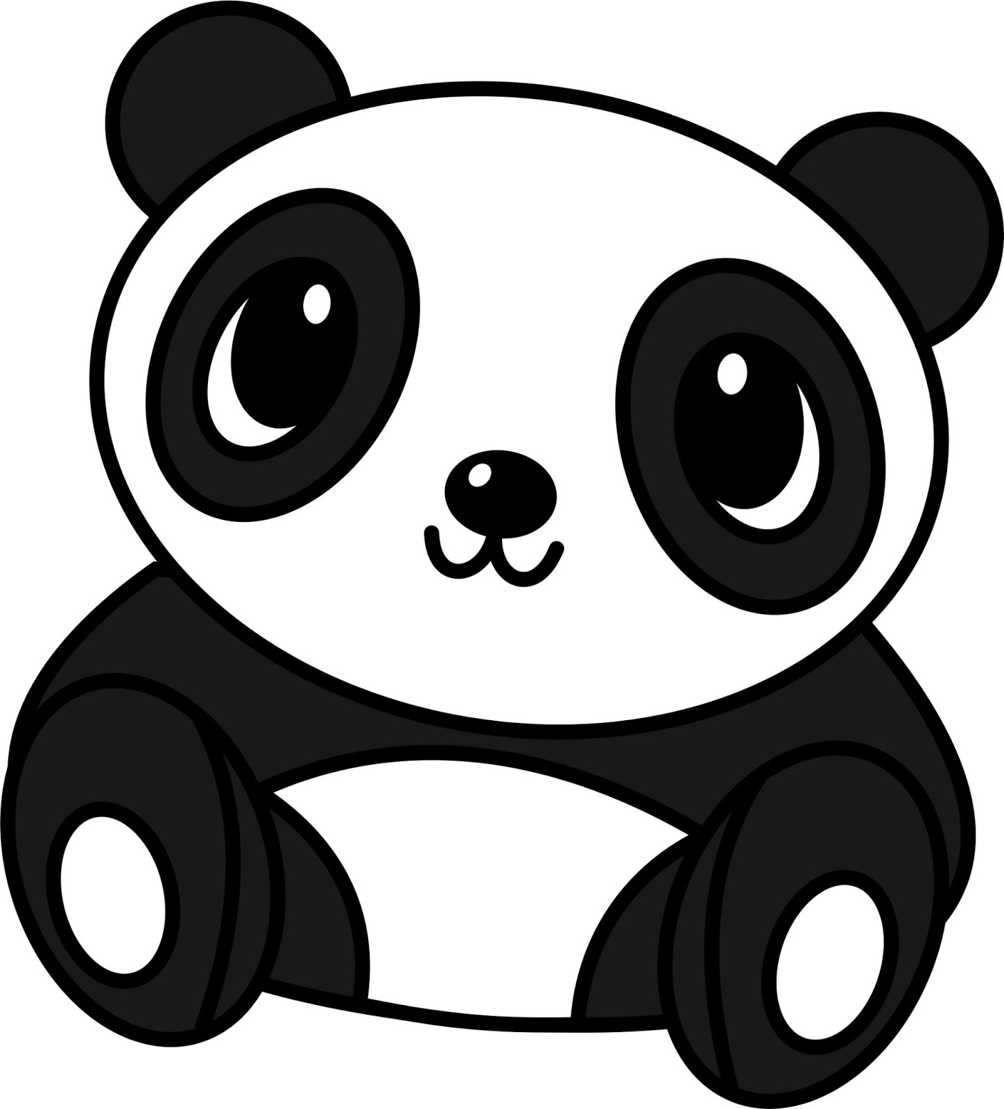 How to draw a cute baby panda - photo#7
