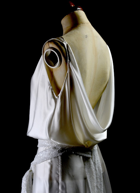 Alexandra King Bias cut 1930s satin gown