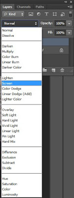 "Change blending mode to ""Screen"" from the layer panel"
