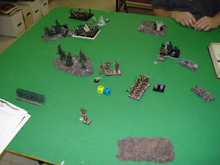 A typical tabletop game of warhammer