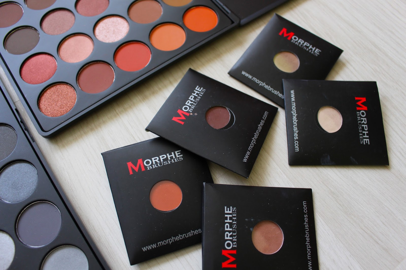 morphe brushes single eyeshadows