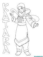 Halaman Mewarnai Gambar Katara Dari Film Kartun Avatar Aang