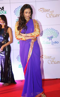 Actress Tabu Latest Pictures in Saree at Memu Saitam Dinner with Stars Red Carpet  9)