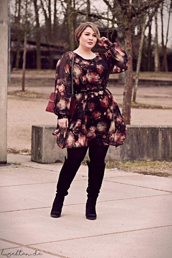 Moda y estilo para gorditas otoño invierno