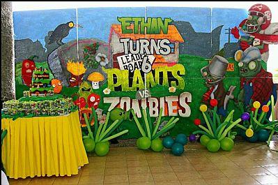 Fiestas Infantiles, Decoración Plantas vs Zombies