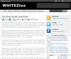 Whitezine Blogger Template