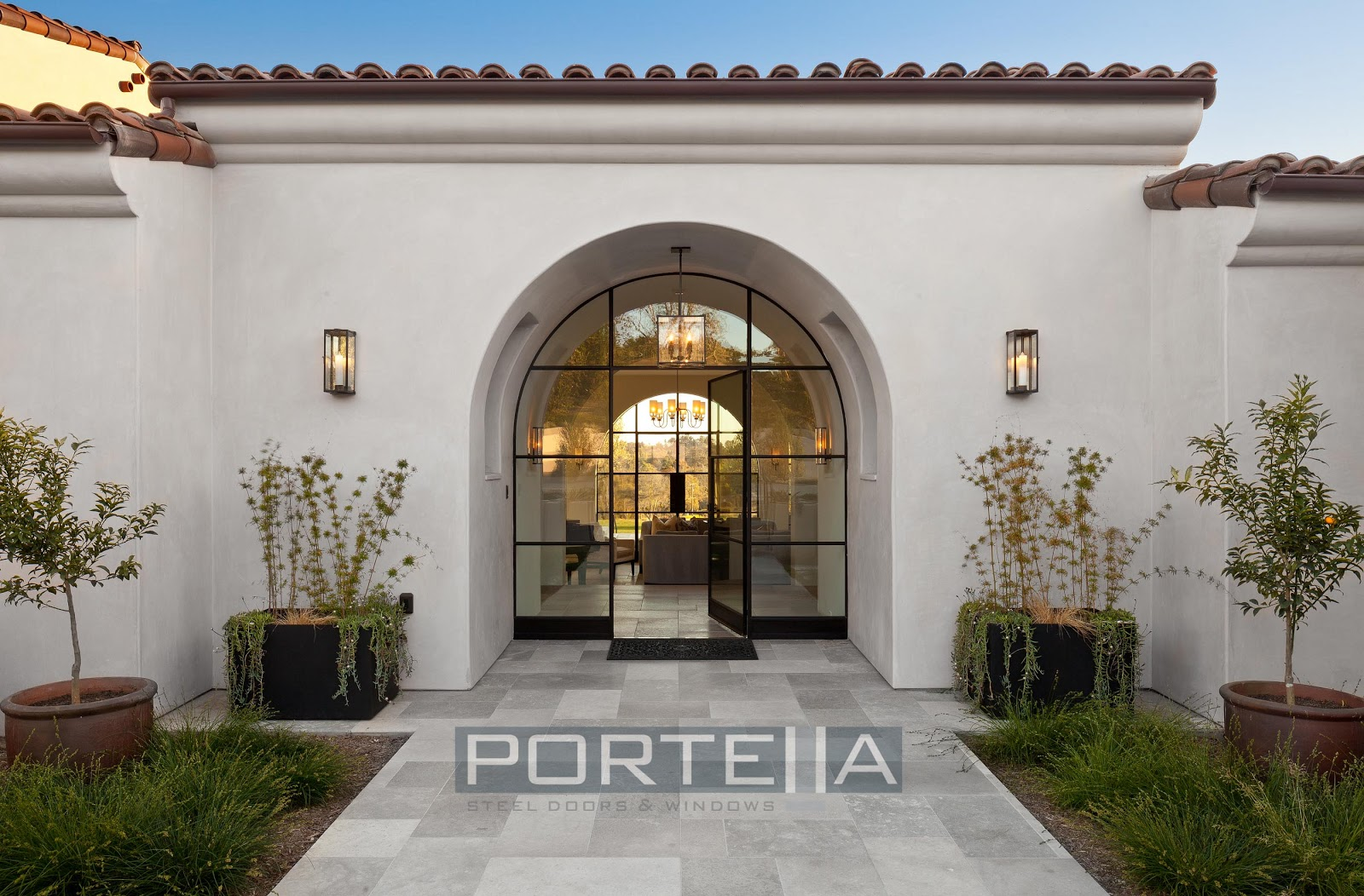 Portella custom steel doors and windows for Custom windows for homes