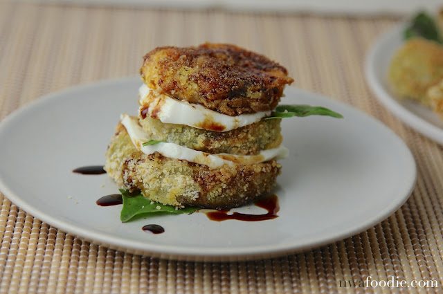 #denigris1889 Fried green tomato caprese salad (c)nwafoodie