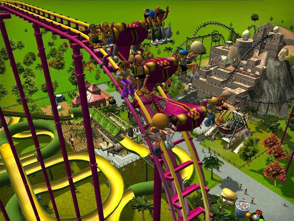 Sim Theme Park vs Sim Coaster Roller Coaster Theme Park