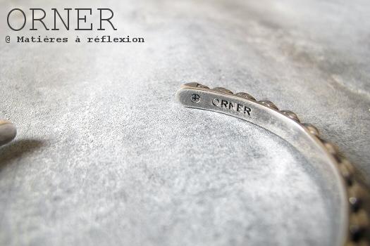 Bracelet unisex laiton argenté Orner bijoux Cordage