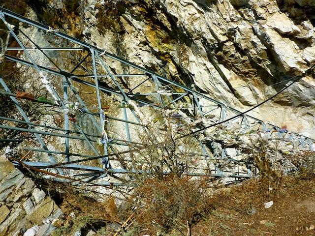 Broken Suspension Bridge Everest Base Camp Trek