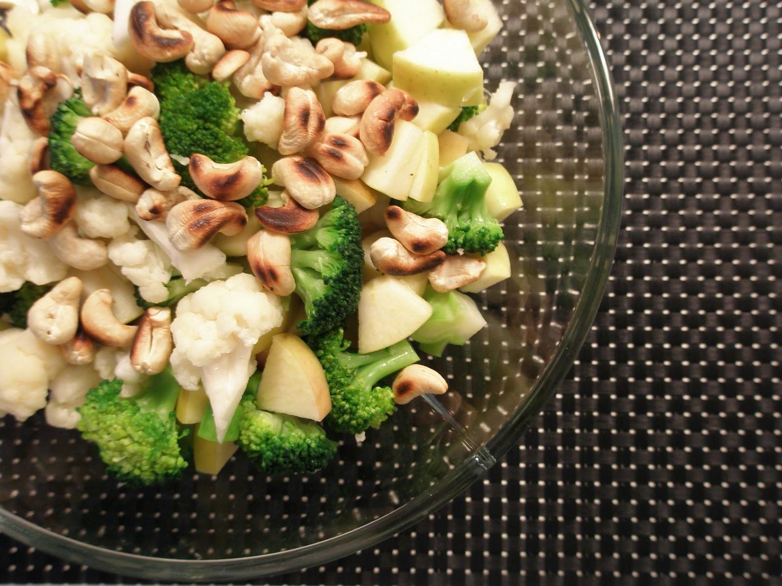blomkål broccoli salat