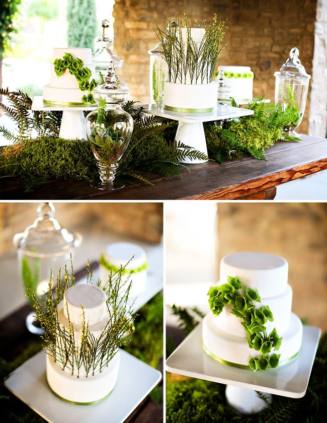 Inspiration Green Fresh Wedding Decorations