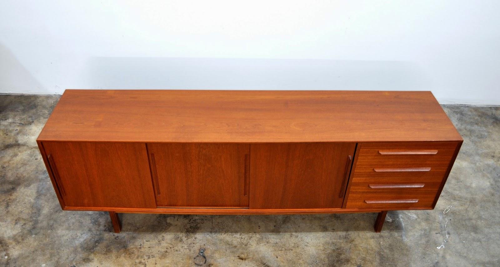 Dyrlund Danish Credenza : Select modern dyrlund teak credenza bar sideboard buffet with