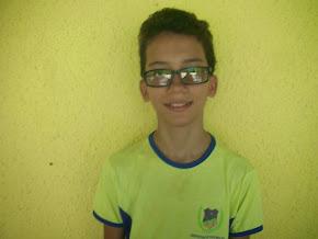 2º Colocado Geral na escola, aluno Daniel Sousa do 7º Ano A, ficou com média final 9,9, Parabéns
