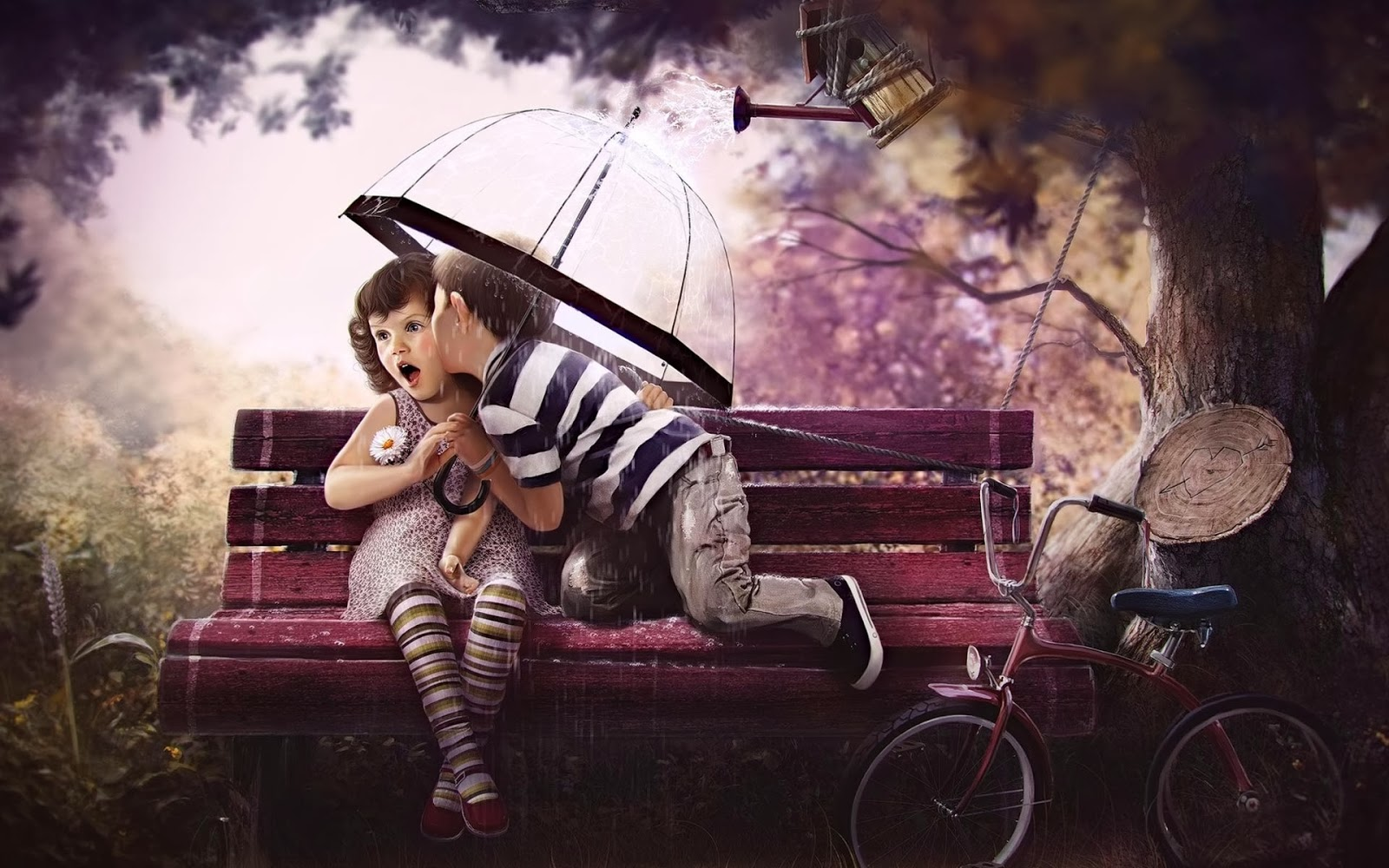 Wallpaper Hd Love Kiss cartoon : cute Little Love couple Pictures HD Free Download PIXHOME