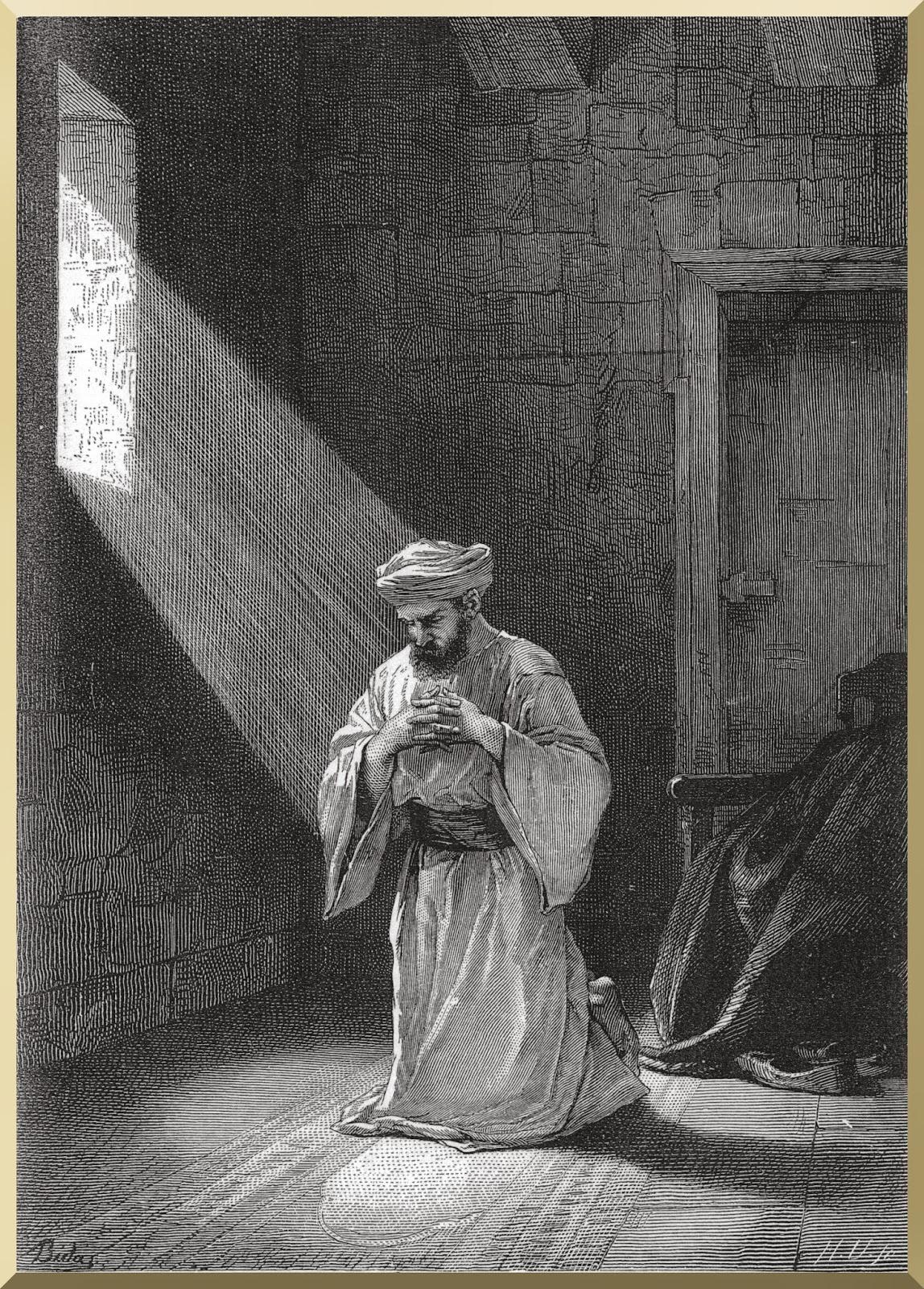 """The prayer in secret""  -- by Alexandre Bida"
