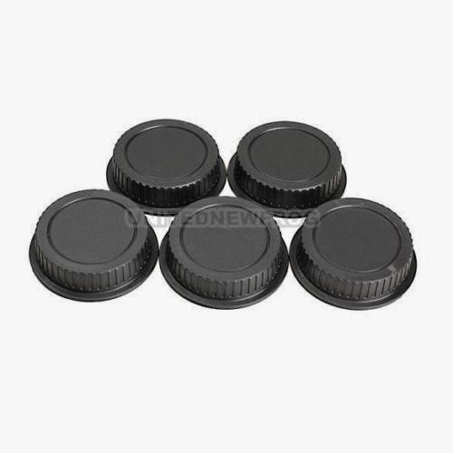 UN3F 5Pcs Rear Lens Cap Dust Cover for Canon EF ES-S EOS Series DSLR Lens Black