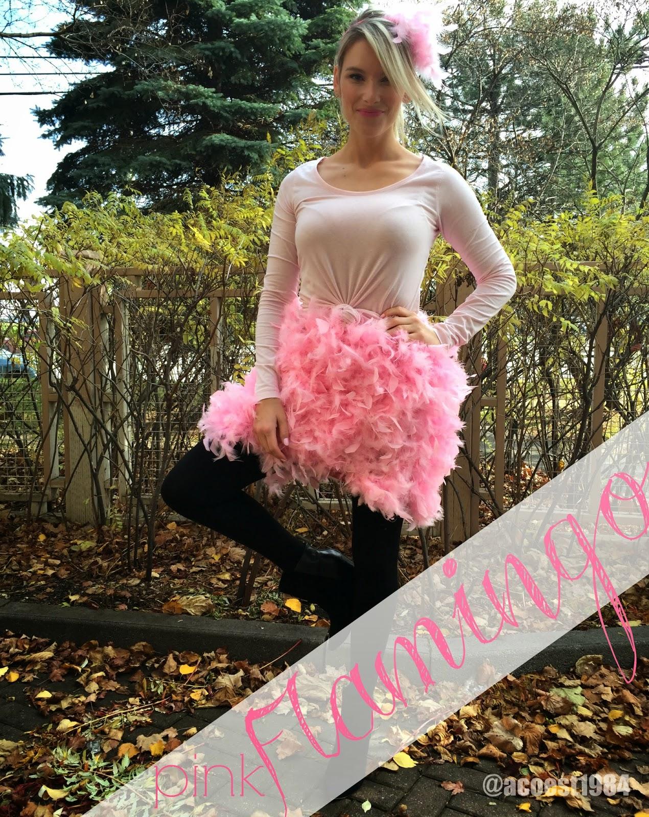 diy pink flamingo halloween costume - life with a.coamanda l