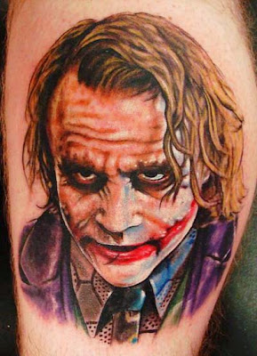 Joker Portrait Tattoo