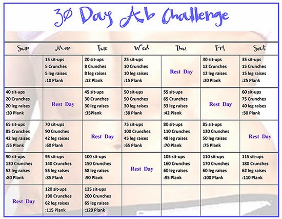 30 day weightloss challenge - Liss cardio workout