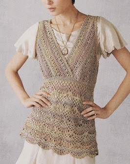Blusa tejida al crochet con patrones