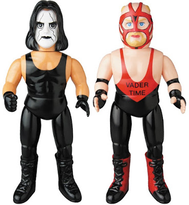WWE Crow Vigilante Sting & Big Van Vader Sofubi Vinyl Figures by Medicom