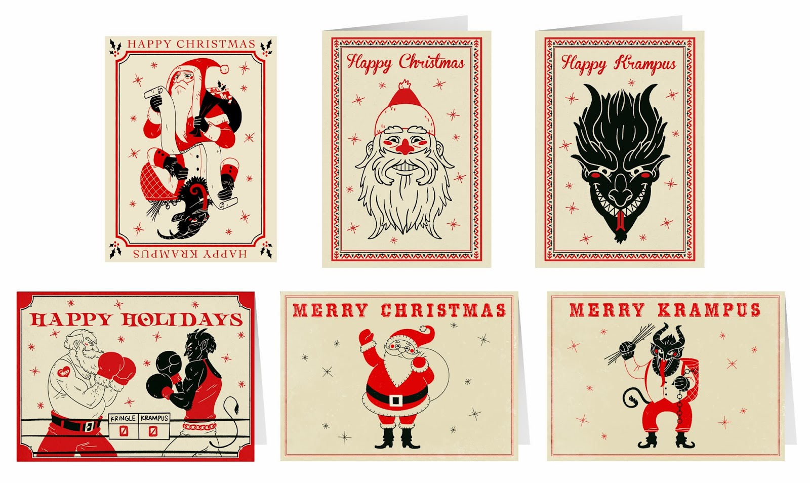 The Art of M. S. Corley: Christmas / Krampus Cards for sale