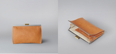 Ally Capellino Loretta clutch handbag red, tan