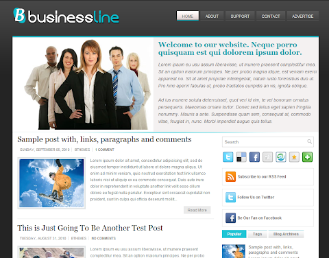 Business Line Blogger Theme