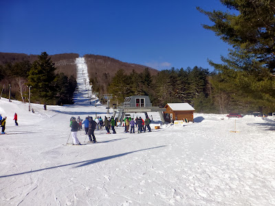 The Hudson chair at Gore's Ski Bowl, Sunday 02/16/2014.  The Saratoga Skier and Hiker, first-hand accounts of adventures in the Adirondacks and beyond, and Gore Mountain ski blog.