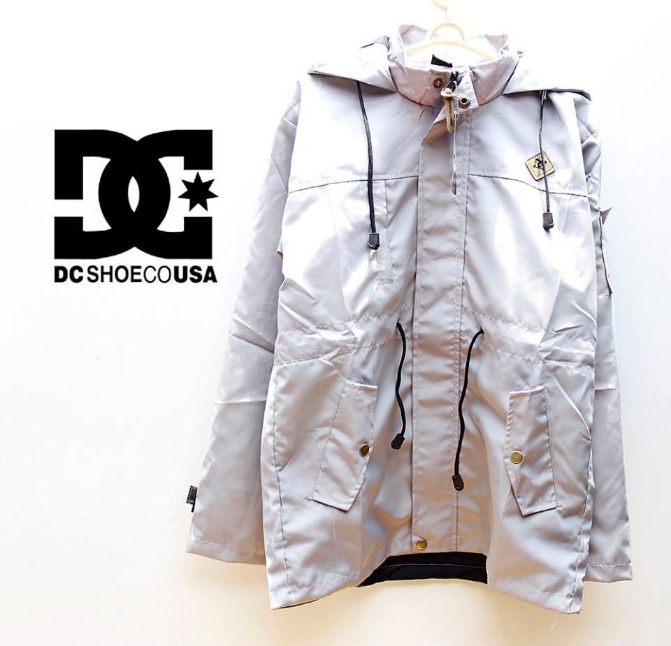 jaket parka putih polos