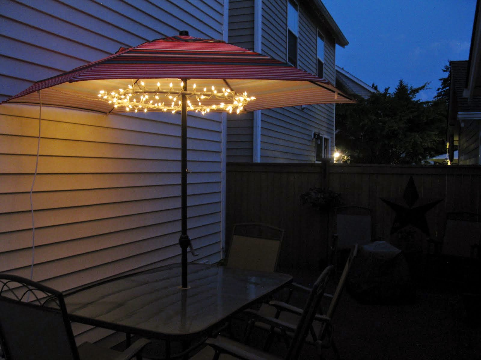 Patio Umbrella Lights Glass