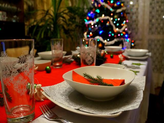 stół christmas