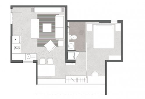 Apartment Area 450 Square Feet Transformation