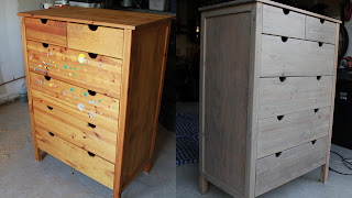 grey-stained dresser - www.turtlesandtails.blogspot.com