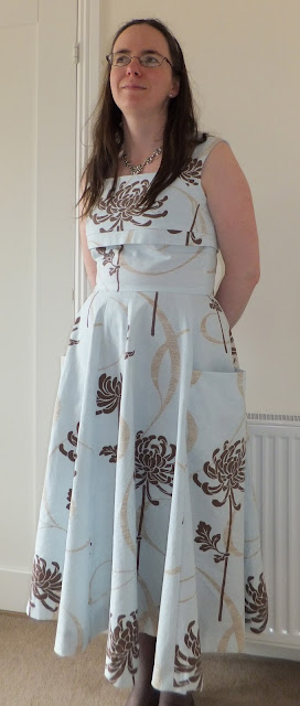 1950's style dress with bold print