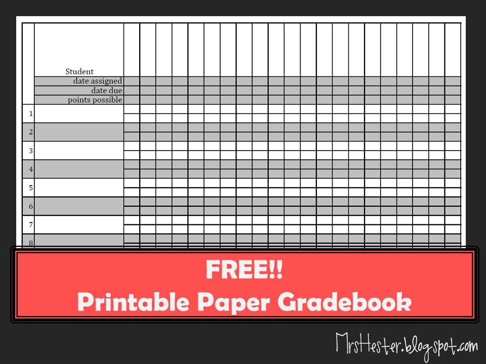 mrs  hester u0026 39 s classroom   paper gradebook