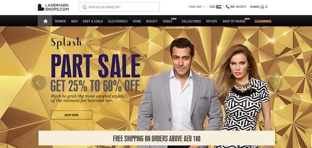 LandmarkShops.com online shopping experience