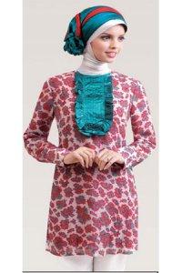 Calosa Blus 8360 - Pink Toska kombinasi (Toko Jilbab dan Busana Muslimah Terbaru)