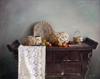 Bodegones con Frutas y Verduras Orientales