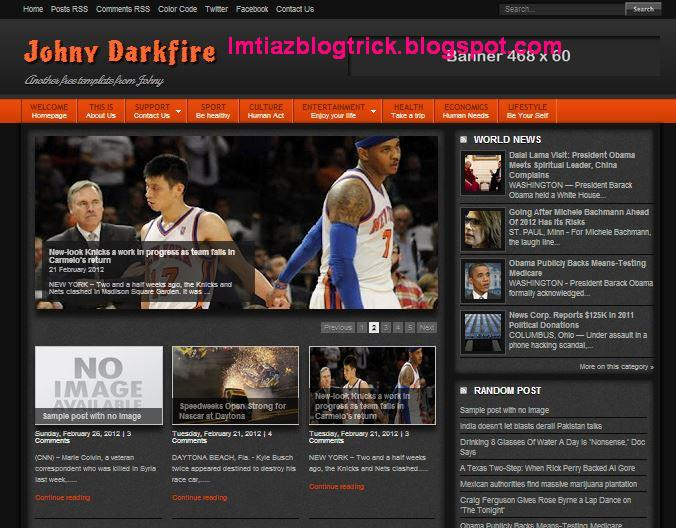4Johny Darkfire Blogger Template