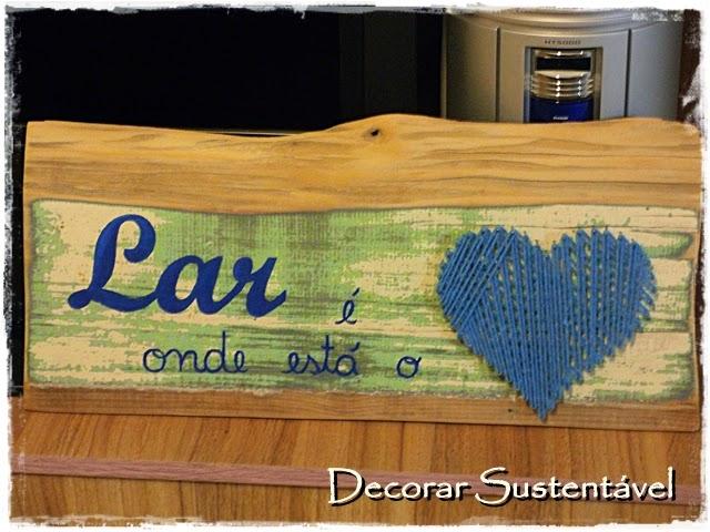 Adesivo Para Envelopamento De Fogão ~ decorar sustentável Plaquinha com madeira de demoliç u00e3o