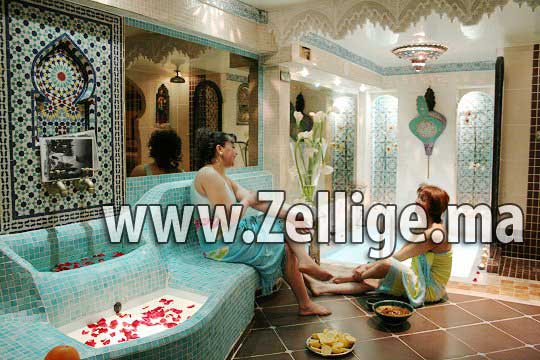 Salle du bain hammam marocain moderne et traditionnel 2013 for Decoration khotba