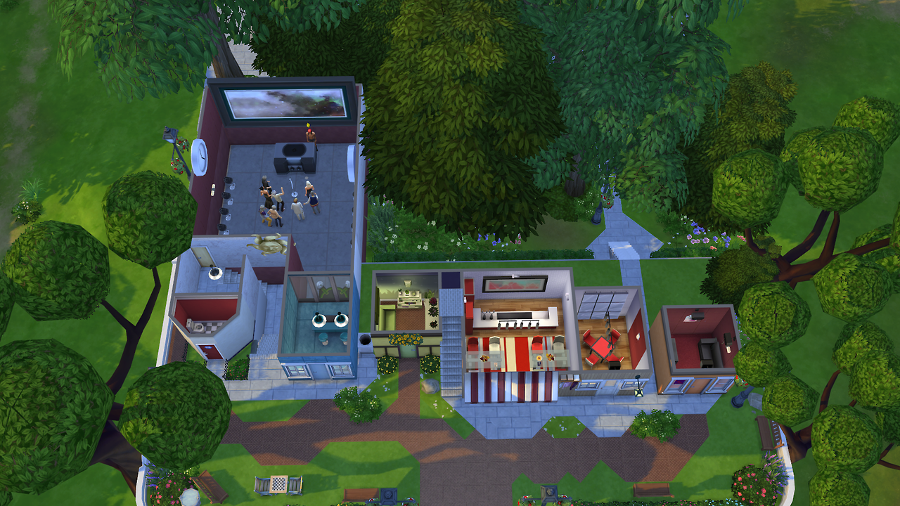 My sims 4 blog main street from animal crossing new leaf for Animal crossing new leaf arredamento