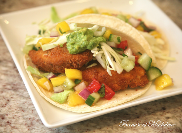 Because of madalene wahoo fish tacos for Wahoo fish taco recipe