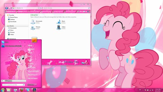 Pink Girls theme for Windows 7