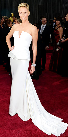 Charlize Theron Oscars dress, Dior