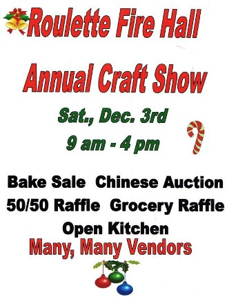 12-3 Roulette Fire Hall Craft Show